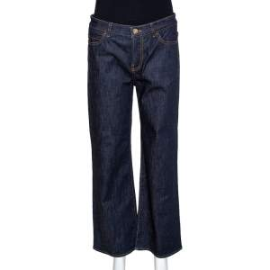 Valentino Dark Blue Denim Wide Leg Jeans M