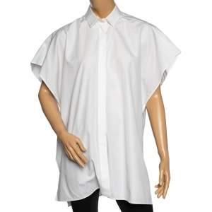 Valentino White Cotton Oversized Button Front Sleeveless Shirt M
