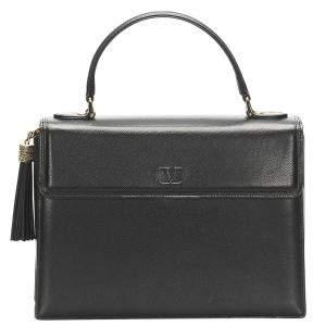 Valentino Black Leather Satchel Bag