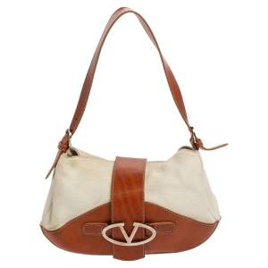 Valentino Two Tone Leather Shoulder Bag