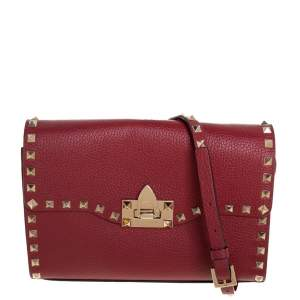 Valentino Red Rockstud Leather Crossbody Bag