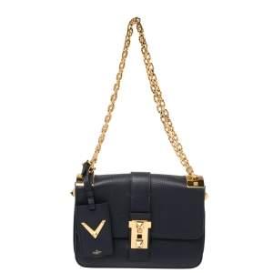 Valentino Blue Leather B-Rockstud Shoulder Bag
