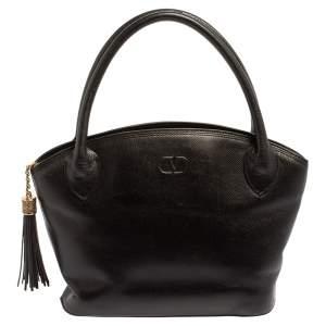 Valentino Black Leather Vintage Satchel