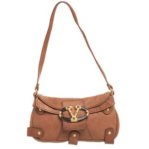 Valentino Brown Leather Catch Hobo
