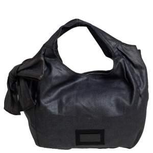 Valentino Black Fabric Nuage Hobo