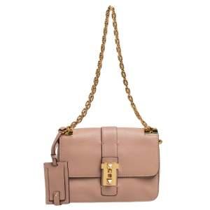 Valentino Beige Leather B-Rockstud Shoulder Bag