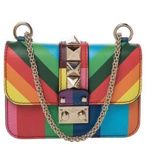 Valentino Multicolour Leather Mini Glam Lock Shoulder Bag