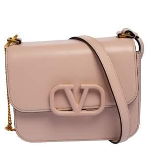 Valentino Pink Leather Small VSling Shoulder Bag