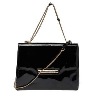Valentino Black Patent Leather Shoulder Bag