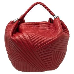 Valentino Red Quilted Leather Large Hobo