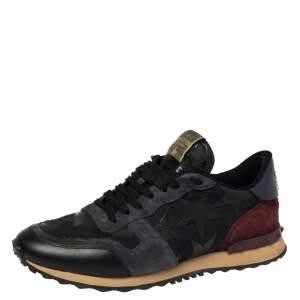 """حذاء رياضي فالنتينو """"روكرونر"""" مزين نجمة جلد و سويدي  متعدد الألوان مقاس 42"""