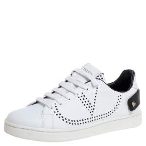 Valentino White leather Backnet Sneakers Size 35