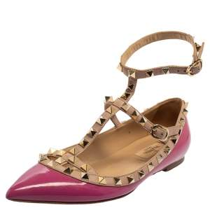 Valentino Purple Patent Leather Rockstud Flats Size 37