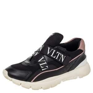 حذاء رياضي فالنتينو هيروز VLTN شبك وجلد أسود شريط فيلكرو مقاس 39