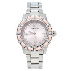 Valentino Pink Stainless Steel Coral Eden V54 Women's Wristwatch 38 mm