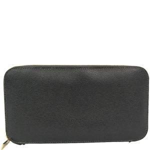 Valextra Dark Gray Leather Long Wallet