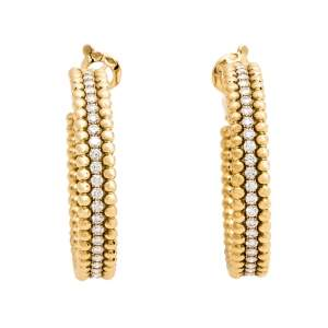 Van Cleef & Arpels Perlée Diamond Hoop Earrings