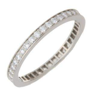 Van Cleef & Arpels Romance Eternity Marriage Wedding Diamonds Platinum Band Ring Size 51