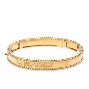 Van Cleef & Arpels Perlee Signature 18K Yellow Gold Bracelet S