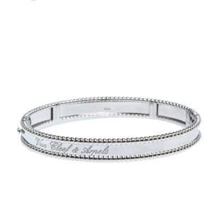 Van Cleef & Arpels Perlée Signature 18K White Gold Bracelet M