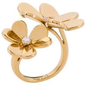 """خاتم فان كليف آند اربلز """"فريفوال"""" بين الأصابع ذهب أصفر عيار 18 و ألماس مقاس 50"""