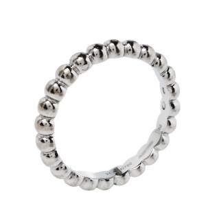 Van Cleef & Arpels Perlée 18K White Gold Ring Size 52