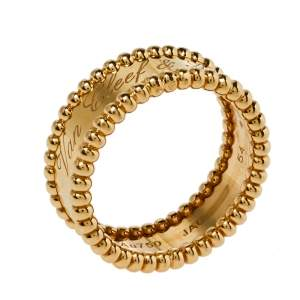 Van Cleef & Arpels Perlée 18K Yellow Gold Ring Size 54