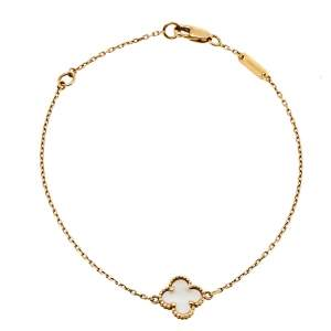 Van Cleef & Arpels Sweet Alhambra Mother of Pearl 18K Yellow Gold Bracelet