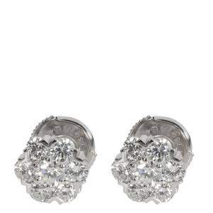 Van Cleef & Arpels Fleurette 18K White Gold Diamond Earrings