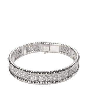 Van Cleef & Arpels Perlee 18K White Gold Diamond Bracelet