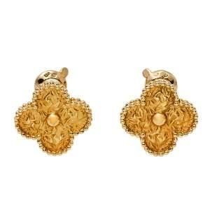 Van Cleef & Arpels Vintage Alhambra 18K Yellow Gold Earrings