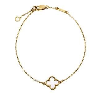 Van Cleef & Arples Sweet Alhambra Mother of Pearl 18K Yellow Gold Bracelet
