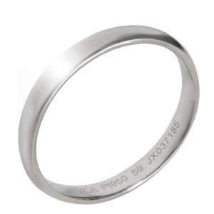 Van Cleef & Arpels Tendrement Band Platinum Ring Size EU 59