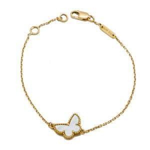 Van Cleef & Arpels Sweet Alhambra MOP Butterfly Yellow Gold Bracelet