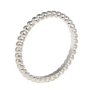Van Cleef & Arpels Perlee Pearls of 18K White Gold Narrow Band Ring 52 SM