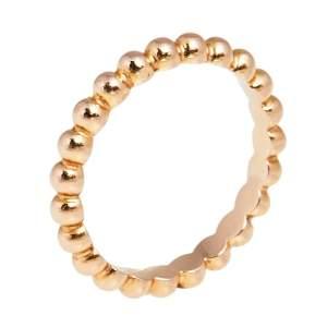 Van Cleef & Arpels Perlee Pearls of 18K Rose Gold Medium Band Ring Size 51