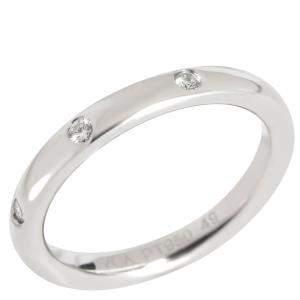 Van Cleef & Arpels Tendrement Etoiles Diamond Platinum Wedding Band Ring Size EU 49