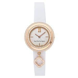 Van Cleef & Arpels MOP Diamonds 18K Rose Gold Charms VCARO29800 Women's Wristwatch 25 MM