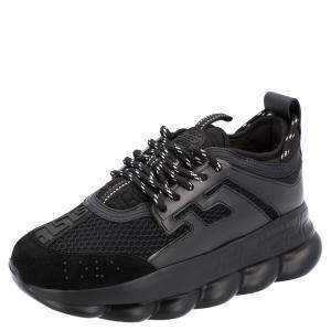 Versace Black Chain Reaction Women's Sneakers Size EU 36.5