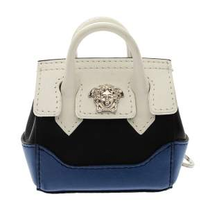 Versace Tri Color Leather Medusa Bag Coin Pouch Key Chain