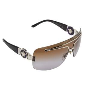 Versace Silver Tone/ Bicolor Gradient 2132 Shield Sunglasses