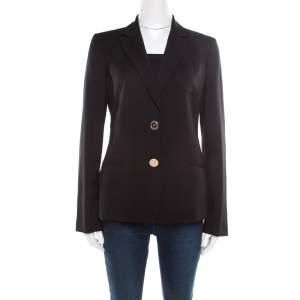 Versace Black Wool Tailored Blazer M