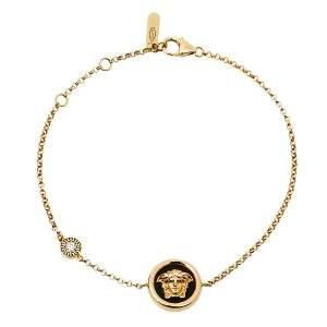 Versace Medusa Diamond 18K Yellow Gold Soft Charm Bracelet