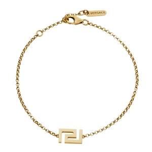 Versace Greek Key Motif 18K Yellow Gold Bracelet