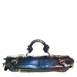 Versace Multicolor Ombre Python Canyon Bag