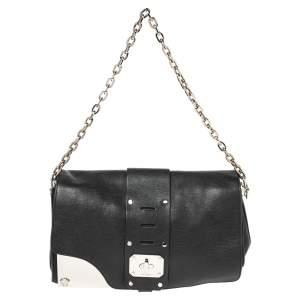 Versace Black Leather Stardust Shoulder Bag