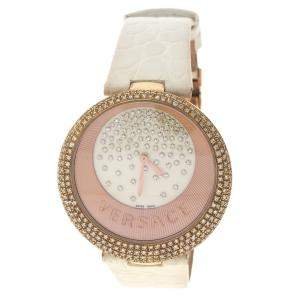 Versace Cream Rose Gold Plated Steel Perpetuelle 87Q Women's  Wristwatch 40 mm