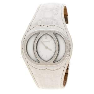 Versace White Stainless Steel Eclissi 74Q Women's Wristwatch 39 mm