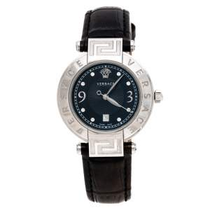 Versace Black Stainless Steel Reve 68Q Women's Wristwatch 35 mm