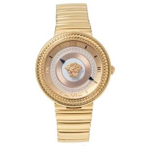 Versace Rose Gold Tone Stainless Steel V-Metal Icon VLC100014 Women's Wristwatch 40 mm